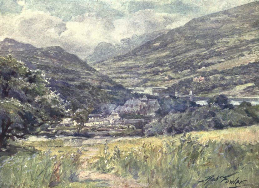 Beautiful Wales Painted and Described - Boddnant Hall, Conway Valley (1905)