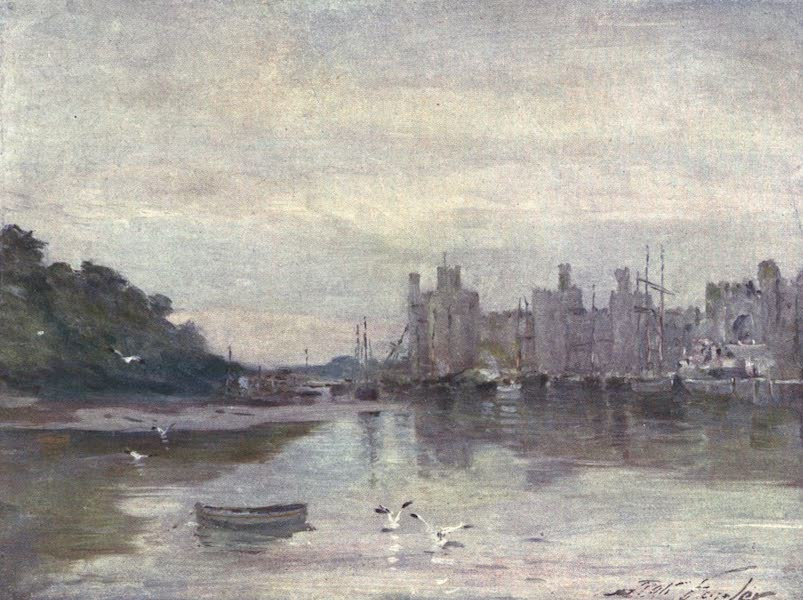Beautiful Wales Painted and Described - Carnarvon Castle (1905)