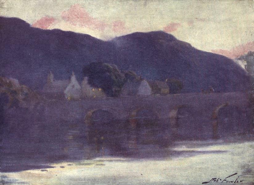 Beautiful Wales Painted and Described - Bridge, Cwm-y-Glo - Evening (1905)