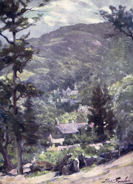 Beautiful Wales Painted and Described - Distant View of Bettws-y-Coed (1905)