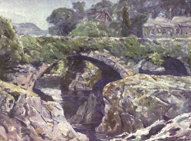 Beautiful Wales Painted and Described - The Old Bridge, Bettws-y-Coed (1905)
