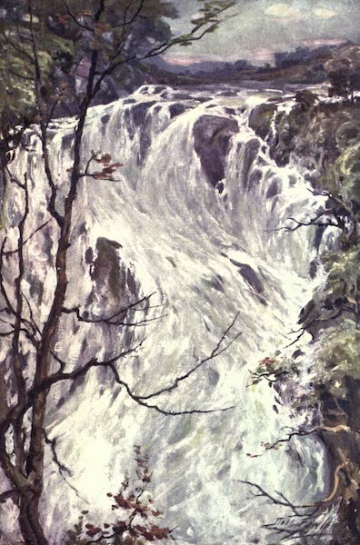 Beautiful Wales Painted and Described - Swallow Falls, Bettws-y-Coed (1905)