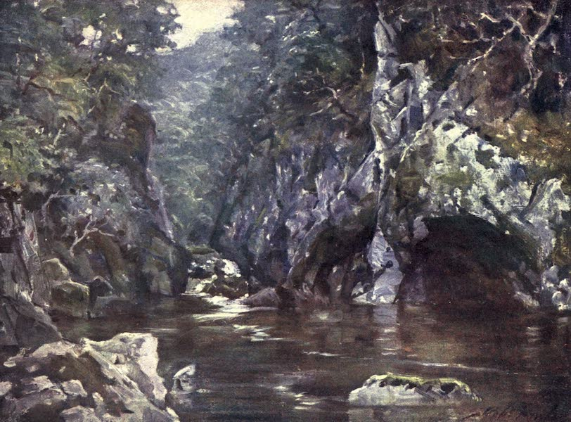 Beautiful Wales Painted and Described - Fairy Glen, Bettws-y-Coed (1905)