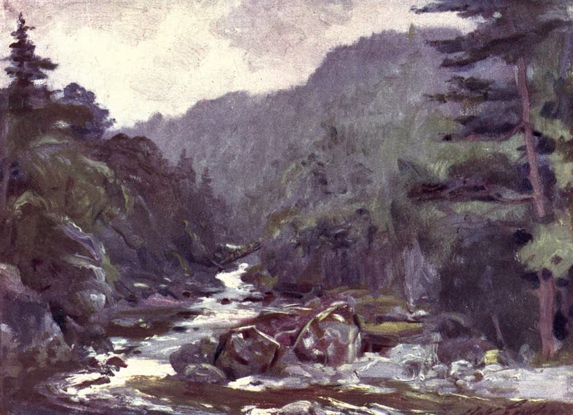 Beautiful Wales Painted and Described - Miner's Bridge on River Llugwy (1905)
