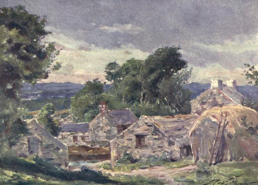 Beautiful Wales Painted and Described - Welsh Farm, near Llanberis (1905)