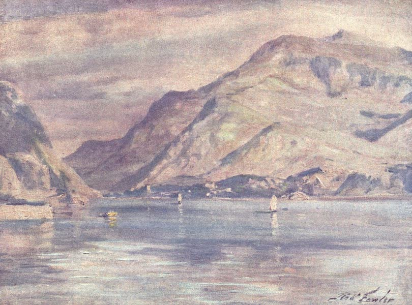 Beautiful Wales Painted and Described - Snowdon from Cwm-y-Glo (1905)