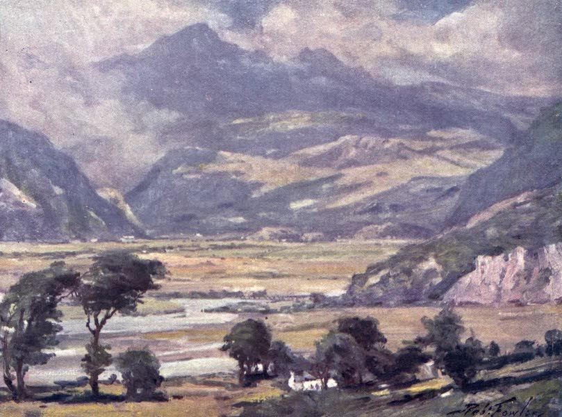 Beautiful Wales Painted and Described - Snowdon from Traeth Mawr (1905)