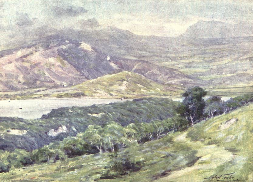 Beautiful Wales Painted and Described - Duffws Mountain in Mist (1905)