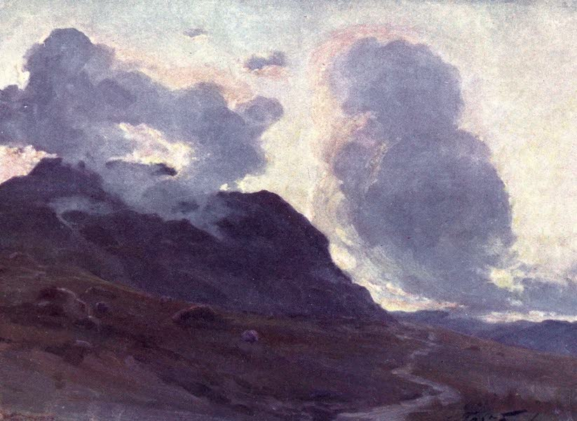 Beautiful Wales Painted and Described - Coming Night, near Beddgelert (1905)