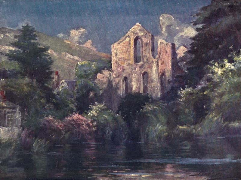Beautiful Wales Painted and Described - Valle Crucis Abbey (1905)