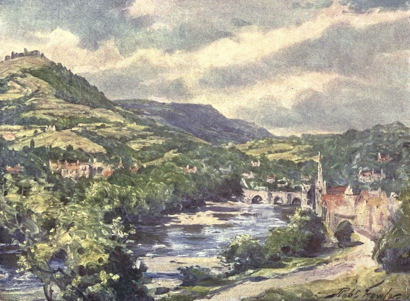 Beautiful Wales Painted and Described - View of Llangollen (1905)