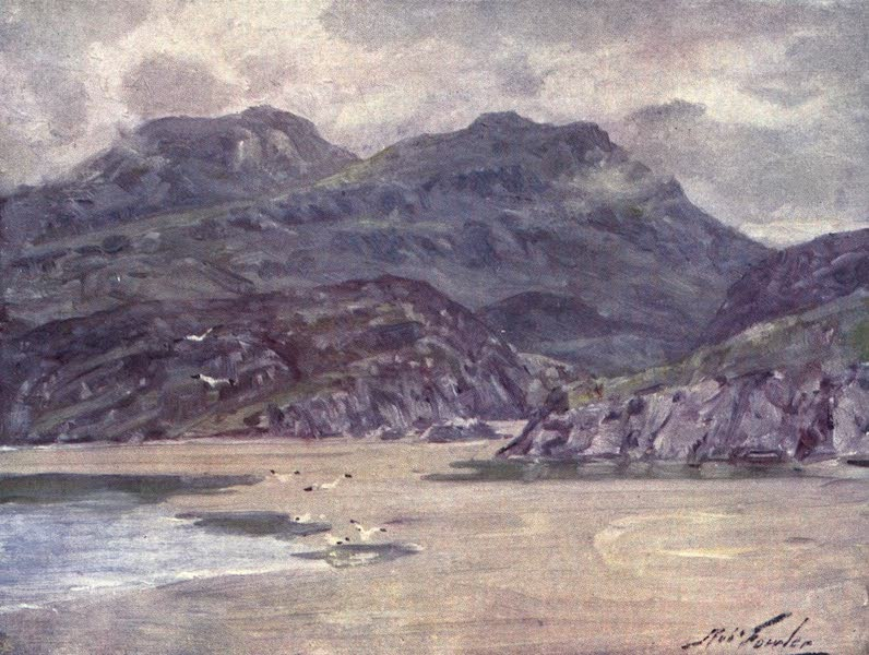 Beautiful Wales Painted and Described - A Lonely Shore near Penrhyn Deudraeth (1905)