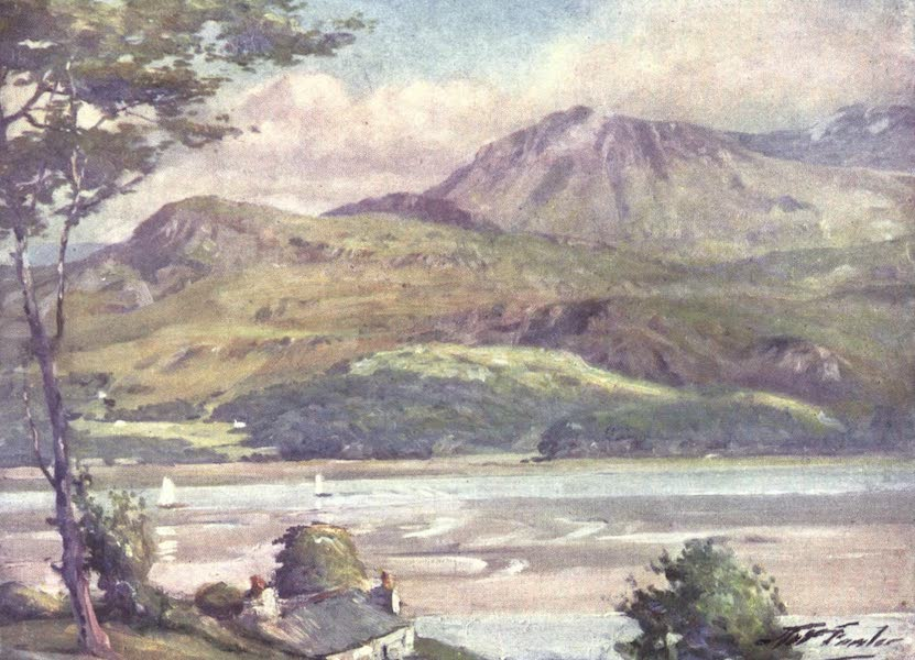 Beautiful Wales Painted and Described - The Shore near Harlech - Afternoon (1905)