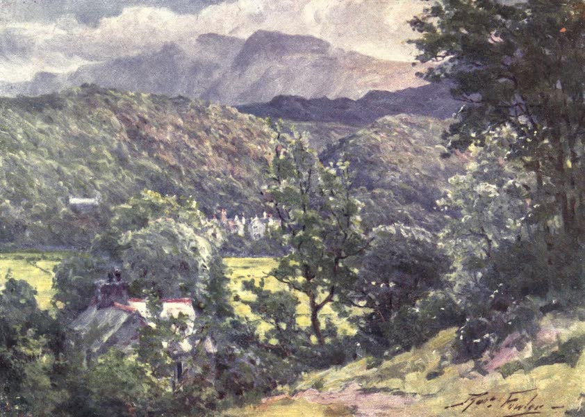 Beautiful Wales Painted and Described - In the Woods, Farchynys, Barmouth Estuary (1905)