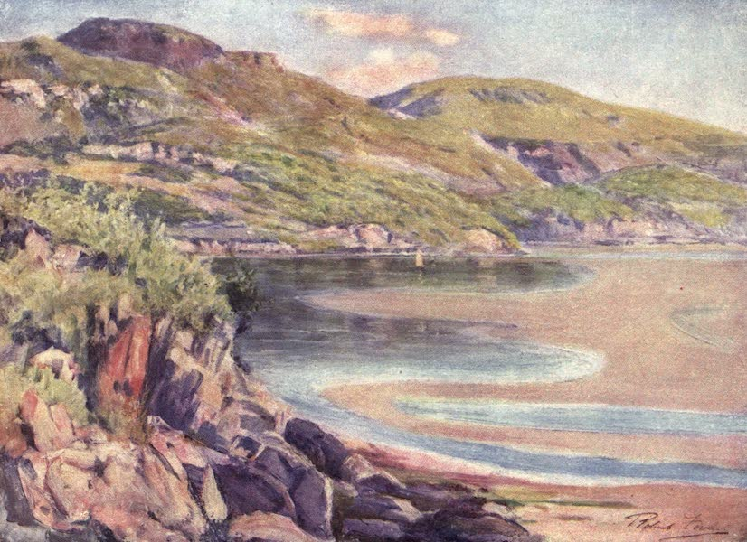 Beautiful Wales Painted and Described - Incoming Tide, near Barmouth (1905)