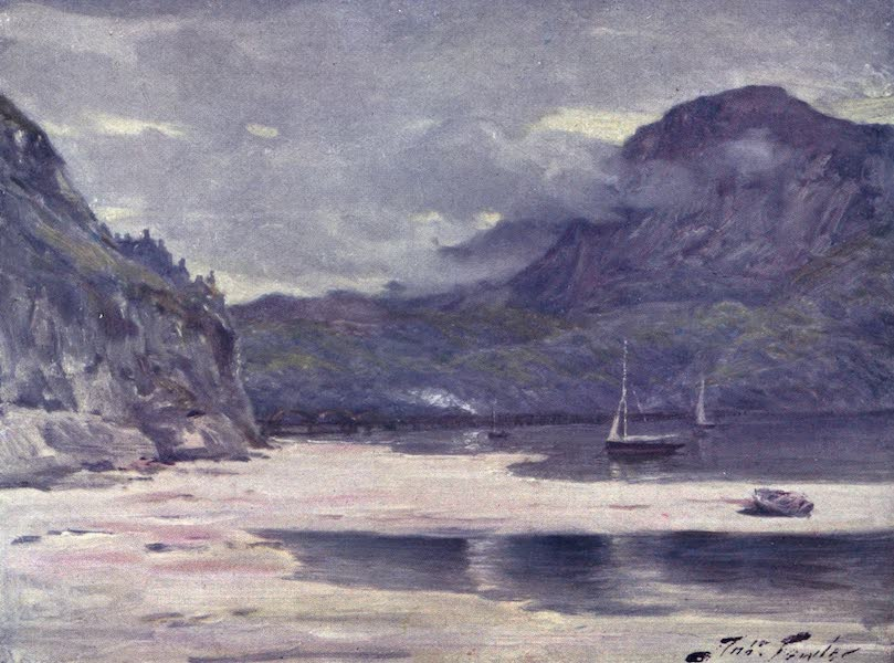 Beautiful Wales Painted and Described - Barmouth Bridge (1905)