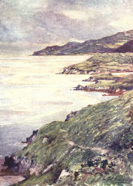 Beautiful Wales Painted and Described - A Lonely Shore, Barmouth Estuary (1905)