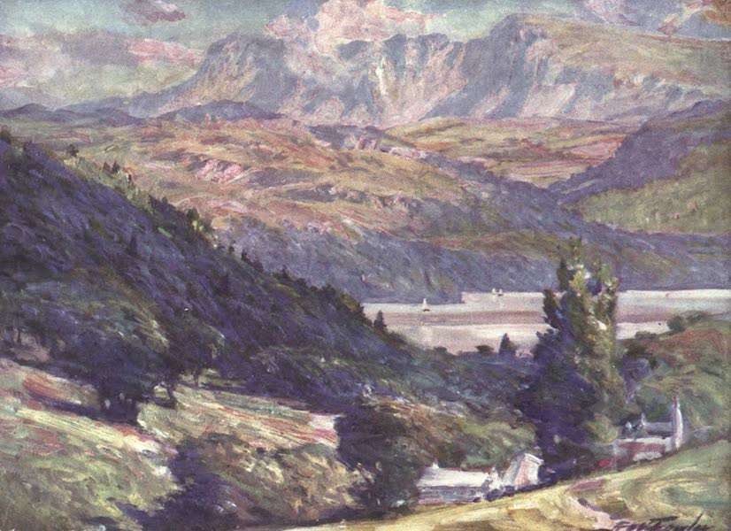 Beautiful Wales Painted and Described - View from Bontddu, Dolgelly (1905)