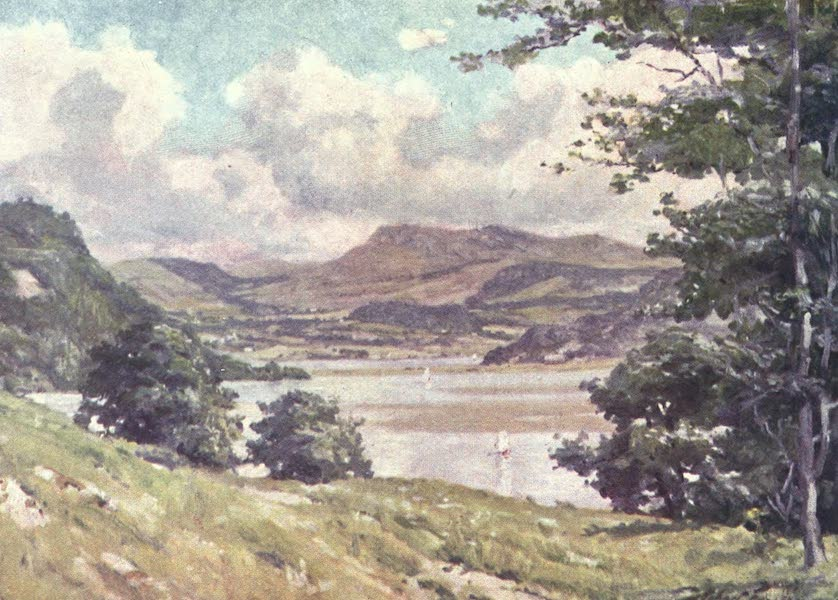 Beautiful Wales Painted and Described - Near Penmaen Pool - Noon (1905)