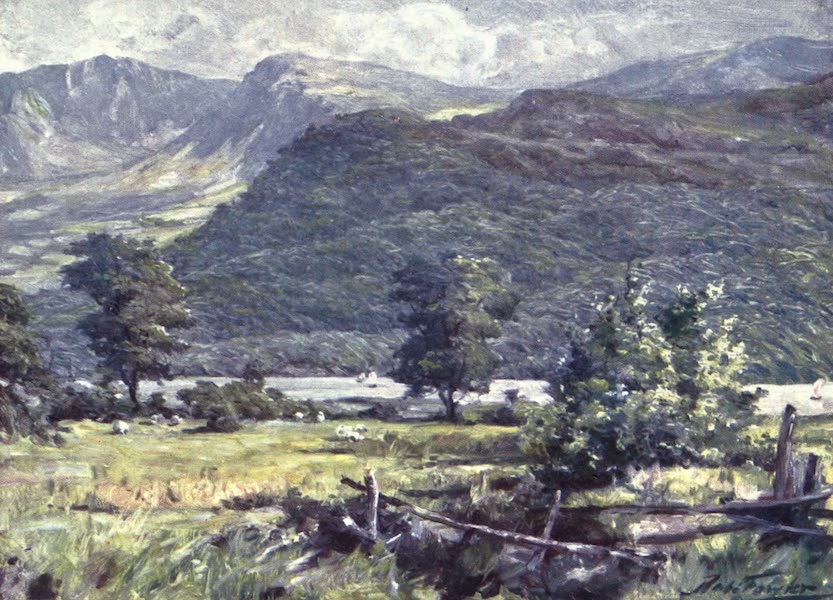Beautiful Wales Painted and Described - View of Cader Idris (1905)