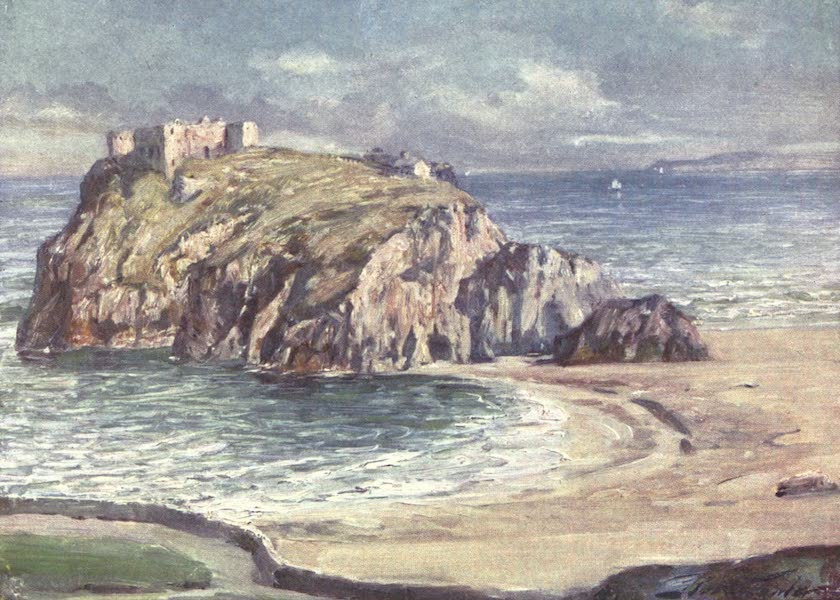 Beautiful Wales Painted and Described - St. Catherine's Rock, Tenby (1905)