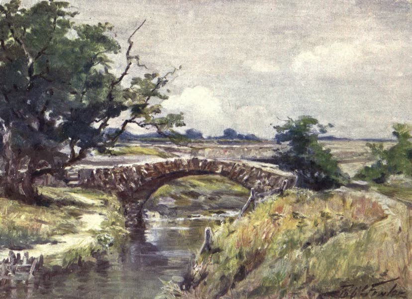 Beautiful Wales Painted and Described - Old Roman Bridge, near Swansea (1905)