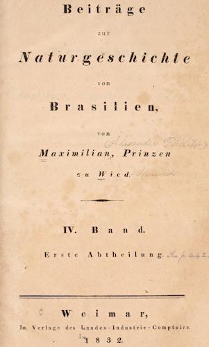 Beitrage zur Naturgeschichte von Brasilien Vol. 4 (1832)