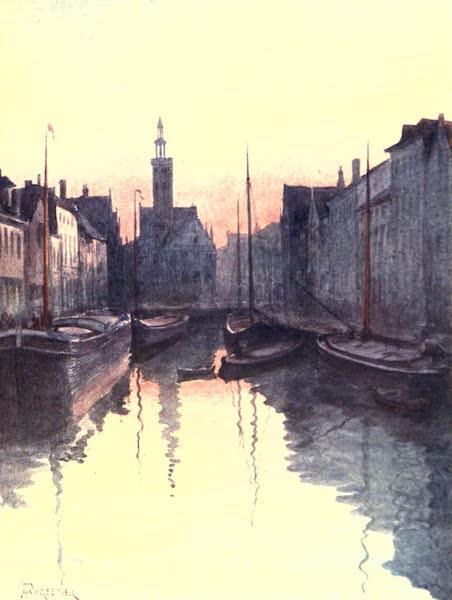 Belgium, Painted and Described - Quai du Miroir, Bruges (1908)