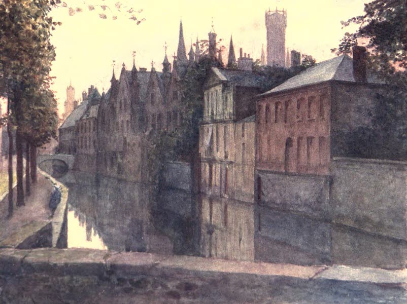 Belgium, Painted and Described - View of the Palais du Franc, Bruges (1908)