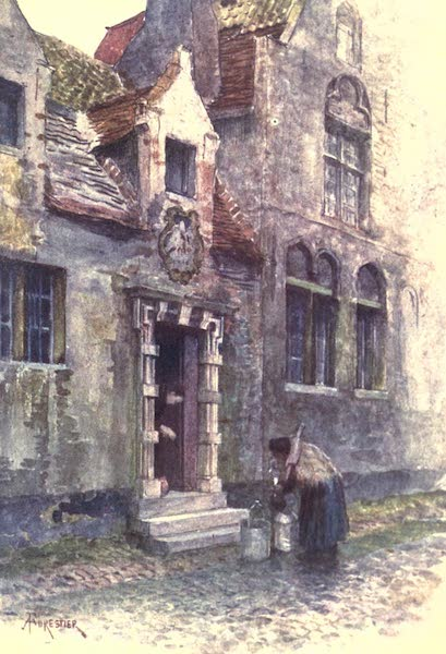 Belgium, Painted and Described - Maison du Pelican (Almshouse), Bruges (1908)