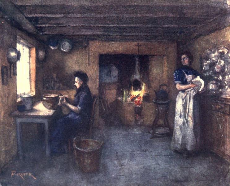 Belgium, Painted and Described - Interior of a Farmhouse, Duinhoek (1908)