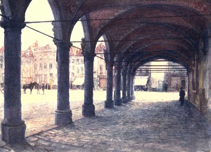Belgium, Painted and Described - Arcade under the Nieuwerk, Ypres (1908)
