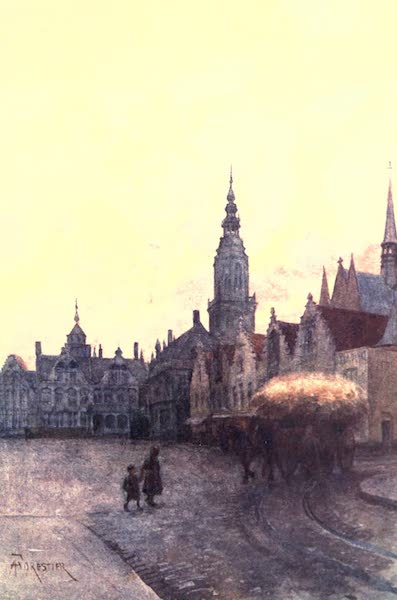 Belgium, Painted and Described - Grande Place and Belfry, Fumes (1908)