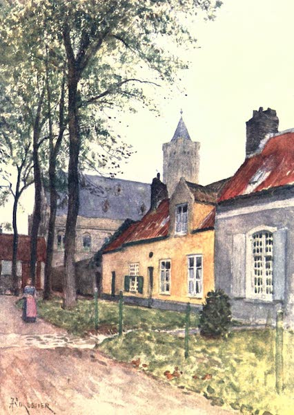 Belgium, Painted and Described - Hall and Vicarage, Nieuport (1908)