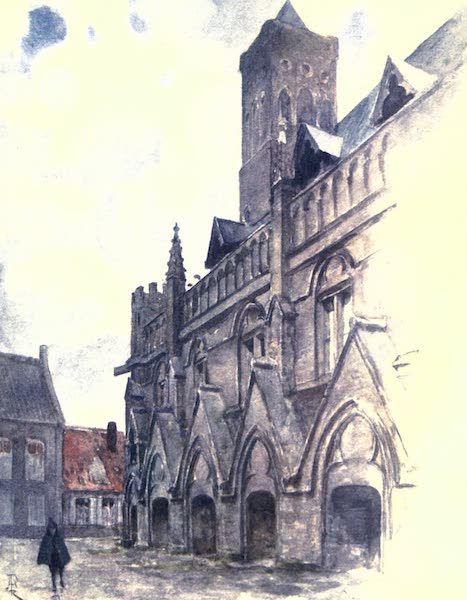 Belgium, Painted and Described - The Town Hall, Nieuport (1908)