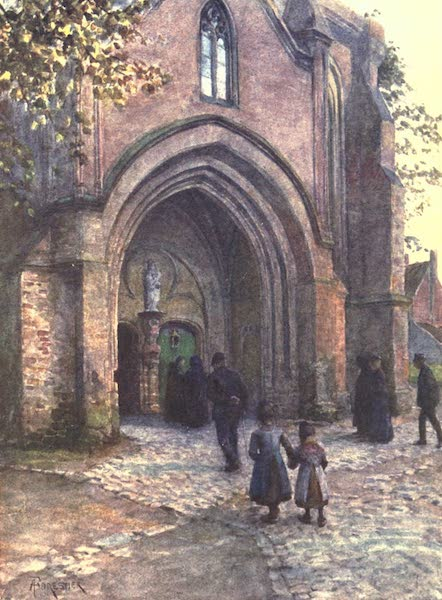 Belgium, Painted and Described - Church Porch (Evensong), Nieuport (1908)