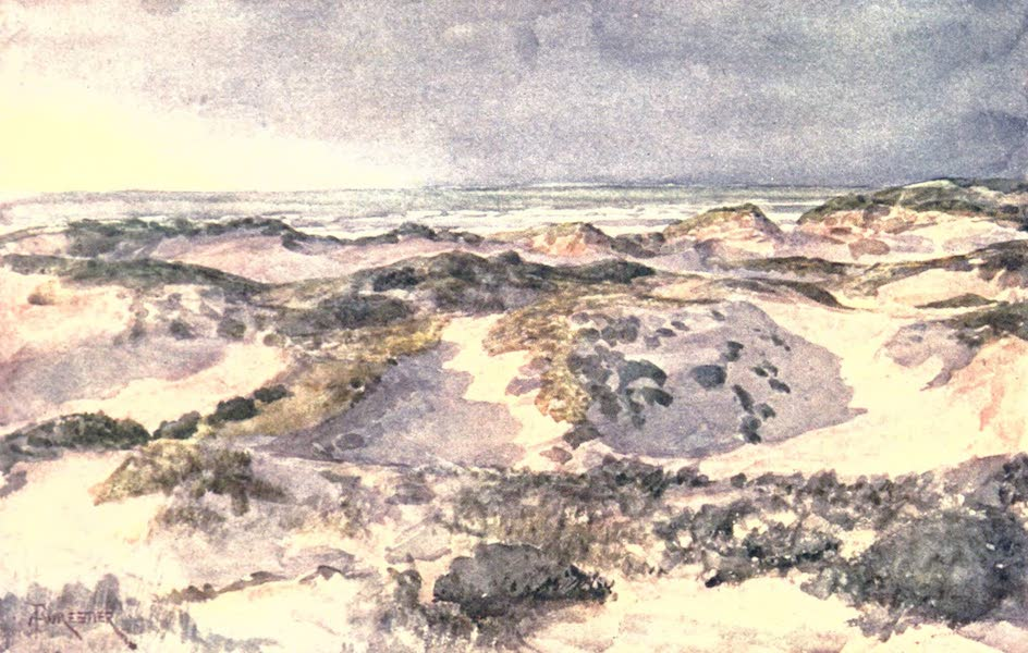 Belgium, Painted and Described - A Stormy Evening; the Dunes (1908)