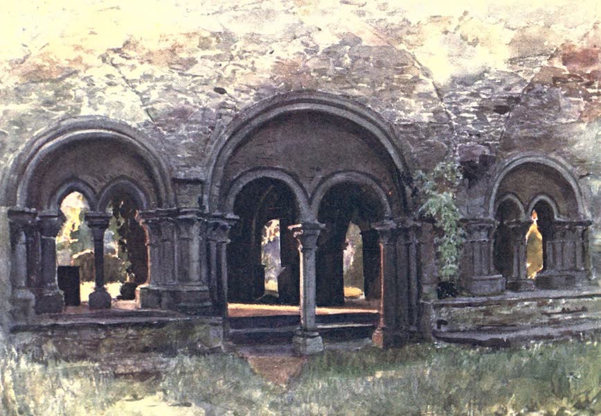 Belgium, Painted and Described - The Ruins of the Cloisters of the Abbey of St. Bavon, Ghent (1908)