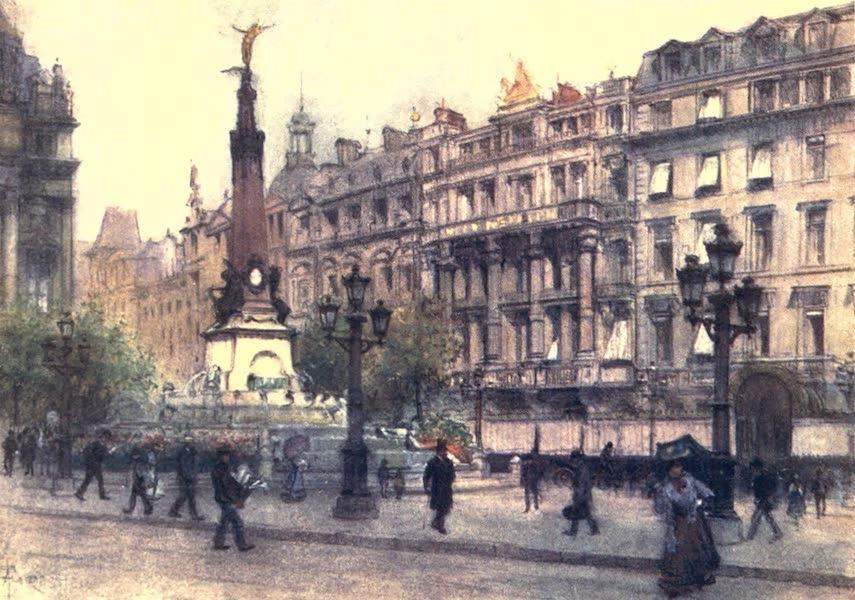 Belgium, Painted and Described - Place de Brouckere, Brussels (1908)