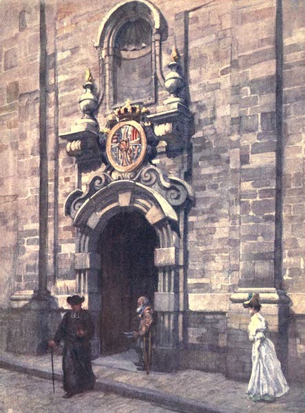 Belgium, Painted and Described - Entrance to the Old Church of the Carmelites, Brussels (1908)