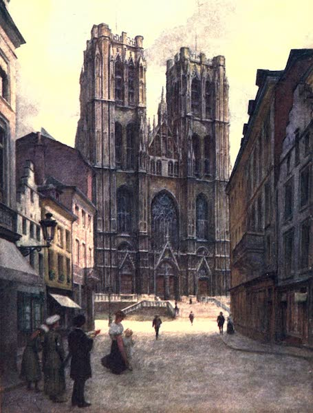 Belgium, Painted and Described - The Cathedral of Ste. Gudule, Brussels (1908)