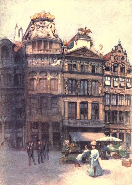 Belgium, Painted and Described - Old House in the Grande Place, Brussels (1908)