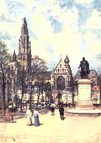 Belgium, Painted and Described - The Place Verte, Antwerp (1908)