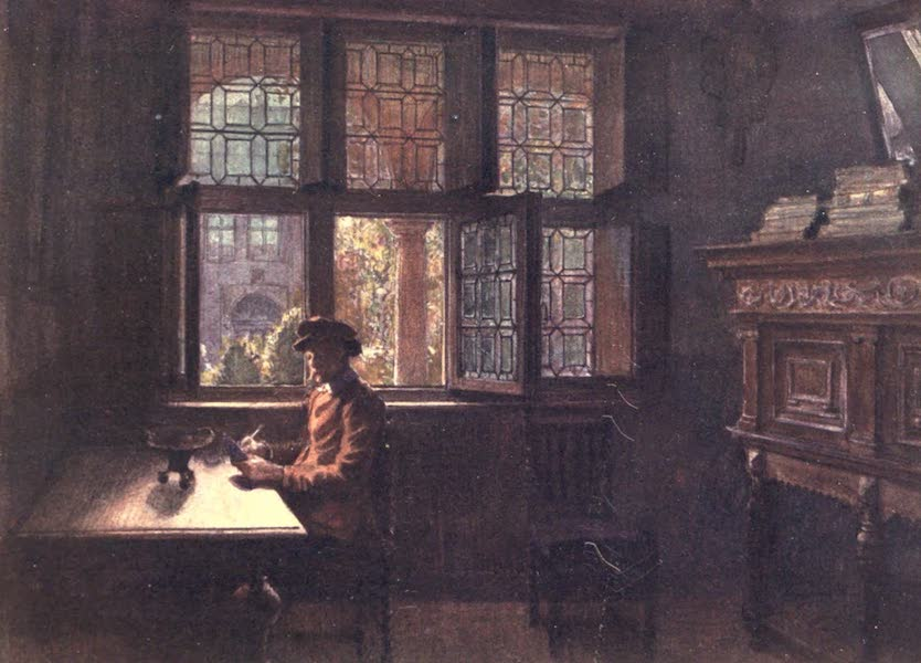 Belgium, Painted and Described - The Musee Plantin-Moretus (the Arriere Boutique), Antwerp (1908)