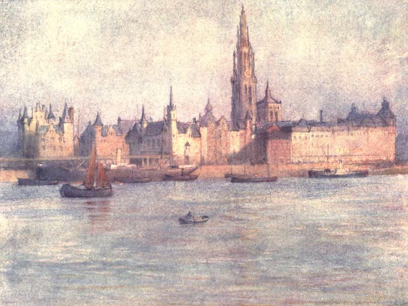 Belgium, Painted and Described - The Roadstead from the Tete de Flandre, Antwerp (1908)