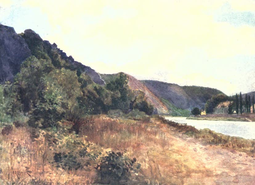 Belgium, Painted and Described - The Chateau de Waulsort on the Meuse (1908)