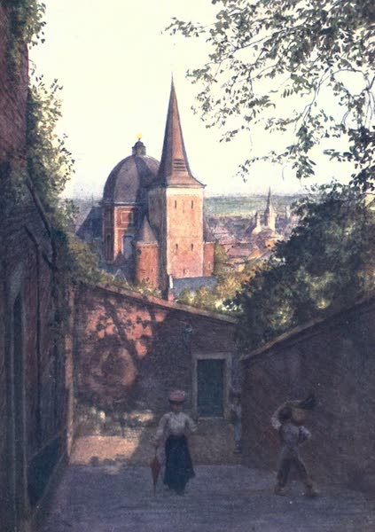 Belgium, Painted and Described - Escalier de la Fontaine, Liege (1908)