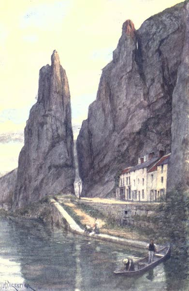 Belgium, Painted and Described - Le Rocher Bayard, Dinant (1908)