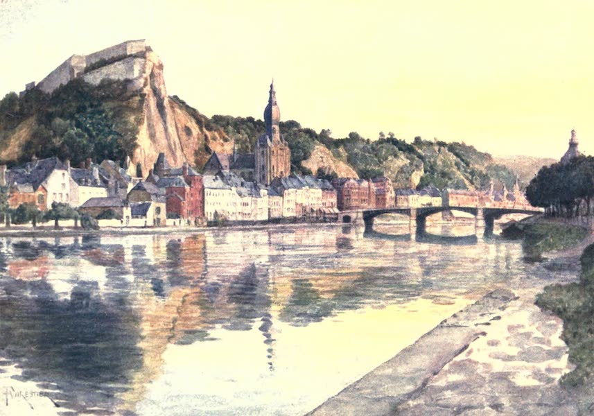 Belgium, Painted and Described - General View of Dinant (1908)