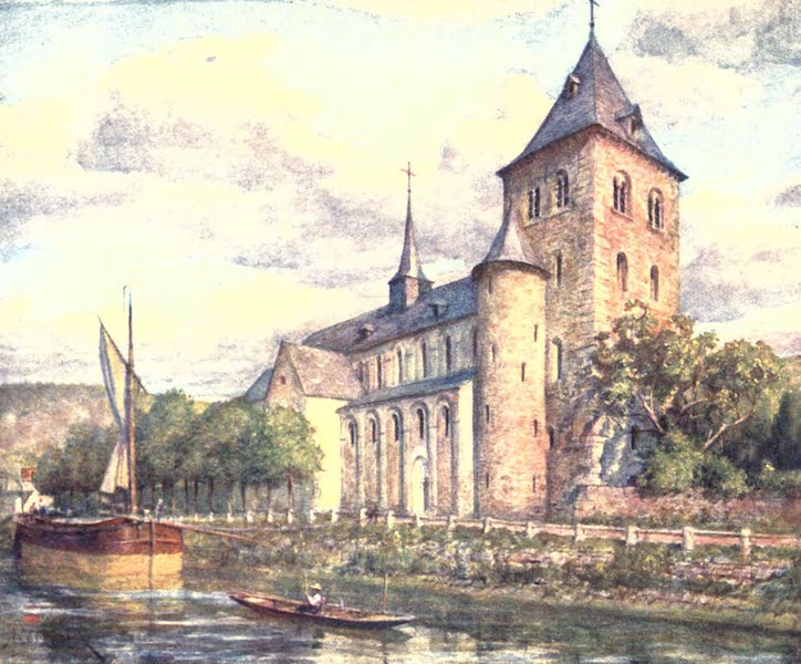 Belgium, Painted and Described - The Romanesque Church, Hastiere (1908)